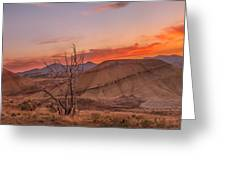 Painted Sunset Greeting Card by Ryan Manuel