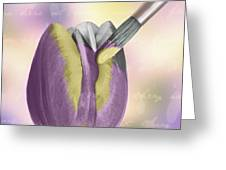 Painting A Tulip Greeting Card by Amanda And Christopher Elwell