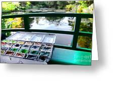 Painting In Giverny Greeting Card by Olivier Le Queinec