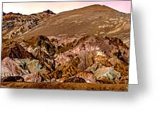 Painting Of Artists Pallete Death Valley Greeting Card by Bob and Nadine Johnston