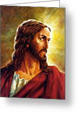 Painting Of Christ Greeting Card by John Lautermilch