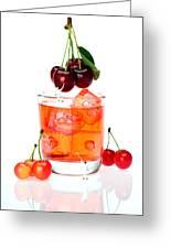 Painting On Sweet Cherries Miniature Art Greeting Card by Paul Ge