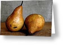 Pair Of Pears Greeting Card by Cole Black