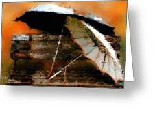 Pair Of Umbrellas Greeting Card by Robert Smith