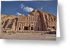 Palace Tomb In Nabataean Ancient Town Petra Greeting Card by Juergen Ritterbach