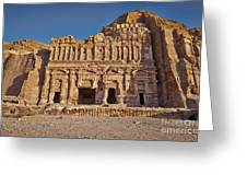 Palace Tombin Nabataean Ancient Town Petra Greeting Card by Juergen Ritterbach