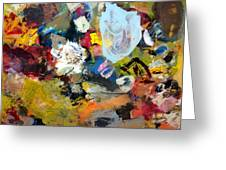 Palette Abstract Greeting Card by Michelle Calkins