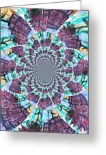 Palette Knife Flowers Kaleidoscope Mandela Greeting Card by Genevieve Esson
