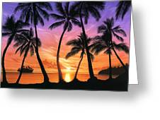 Palm Beach Sundown Greeting Card by Andrew Farley