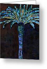 Palm On Purple Greeting Card by Oscar Penalber