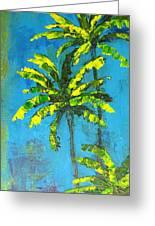 Palm Trees Greeting Card by Patricia Awapara