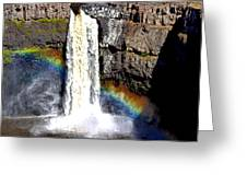 Palouse Falls Greeting Card by Rusty Jeffries
