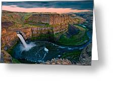 Palouse Falls Sunset Greeting Card by Dan Mihai
