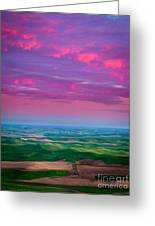 Palouse Fiery Dawn Greeting Card by Inge Johnsson