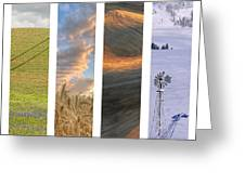 Palouse Seasons II Greeting Card by Doug Davidson