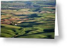 Palouse - Washington - Farms - #2 Greeting Card by Nikolyn McDonald