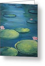 Pamplemousse Water Lilies Greeting Card by Brigitte Roshay