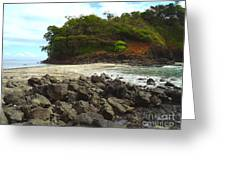 Panama Island Greeting Card by Carey Chen