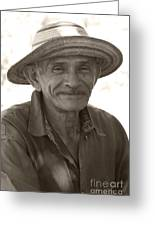 Panamanian Country Man Greeting Card by Heiko Koehrer-Wagner