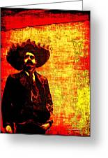 Pancho Villa Greeting Card by Joan  Minchak