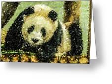 Panda Greeting Card by Lanjee Chee