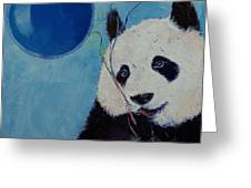 Panda Party Greeting Card by Michael Creese