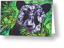 Panda Snack Greeting Card by Kay Shaffer