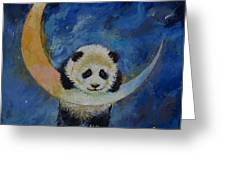 Panda Stars Greeting Card by Michael Creese