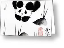 Panda Time Greeting Card by Oiyee  At Oystudio