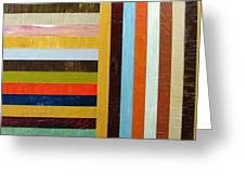Panel Abstract L Greeting Card by Michelle Calkins