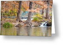 Panorama Of Guadalupe River In Hunt Texas Hill Country Greeting Card by Silvio Ligutti