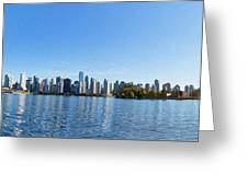 Panorama of Vancouver Harbor Greeting Card by Jodi Jacobson