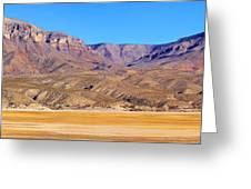 Panorama Sierra Caballo Mountains And Dry Lake Bed Greeting Card by Roena King