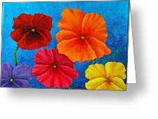 Pansies For Rosalina Greeting Card by Pamela Allegretto