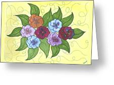 Pansy Posy Greeting Card by Susie WEBER