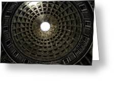 Pantheon Oculus Greeting Card by Joan Carroll