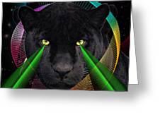 Panther Greeting Card by Mark Ashkenazi