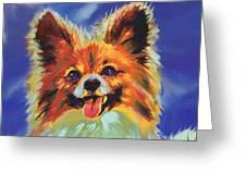 Papillion Puppy Greeting Card by Jane Schnetlage