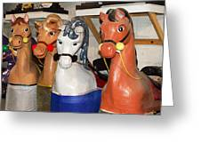 Parade Horses Greeting Card by Cheryl Cencich