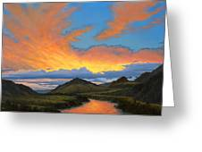 Paradise Valley Sunset  Greeting Card by Paul Krapf