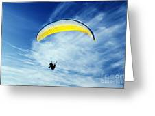 Paraglider Greeting Card by Jelena Jovanovic