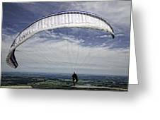 Paragliding  Greeting Card by Joanna Madloch