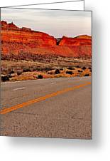 Parallel Lines Greeting Card by Benjamin Yeager