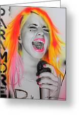 'paramore' Greeting Card by Christian Chapman