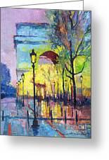 Paris Arc De Triomphie Greeting Card by Yuriy  Shevchuk
