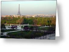 Paris Autumn Greeting Card by A Morddel