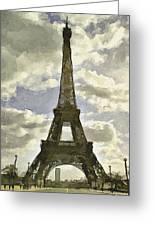 Paris Eiffel Tower 4 Greeting Card by Yury Malkov