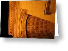 Paris France - Arc de Triomphe - 01132 Greeting Card by DC Photographer