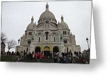 Paris France - Basilica Of The Sacred Heart - Sacre Coeur - 12127 Greeting Card by DC Photographer
