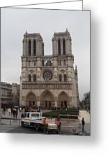 Paris France - Notre Dame De Paris - 011312 Greeting Card by DC Photographer